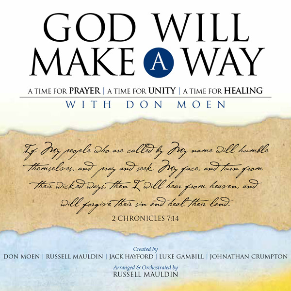 Donmoen don moen my first-ever book, god will make a way, rele.