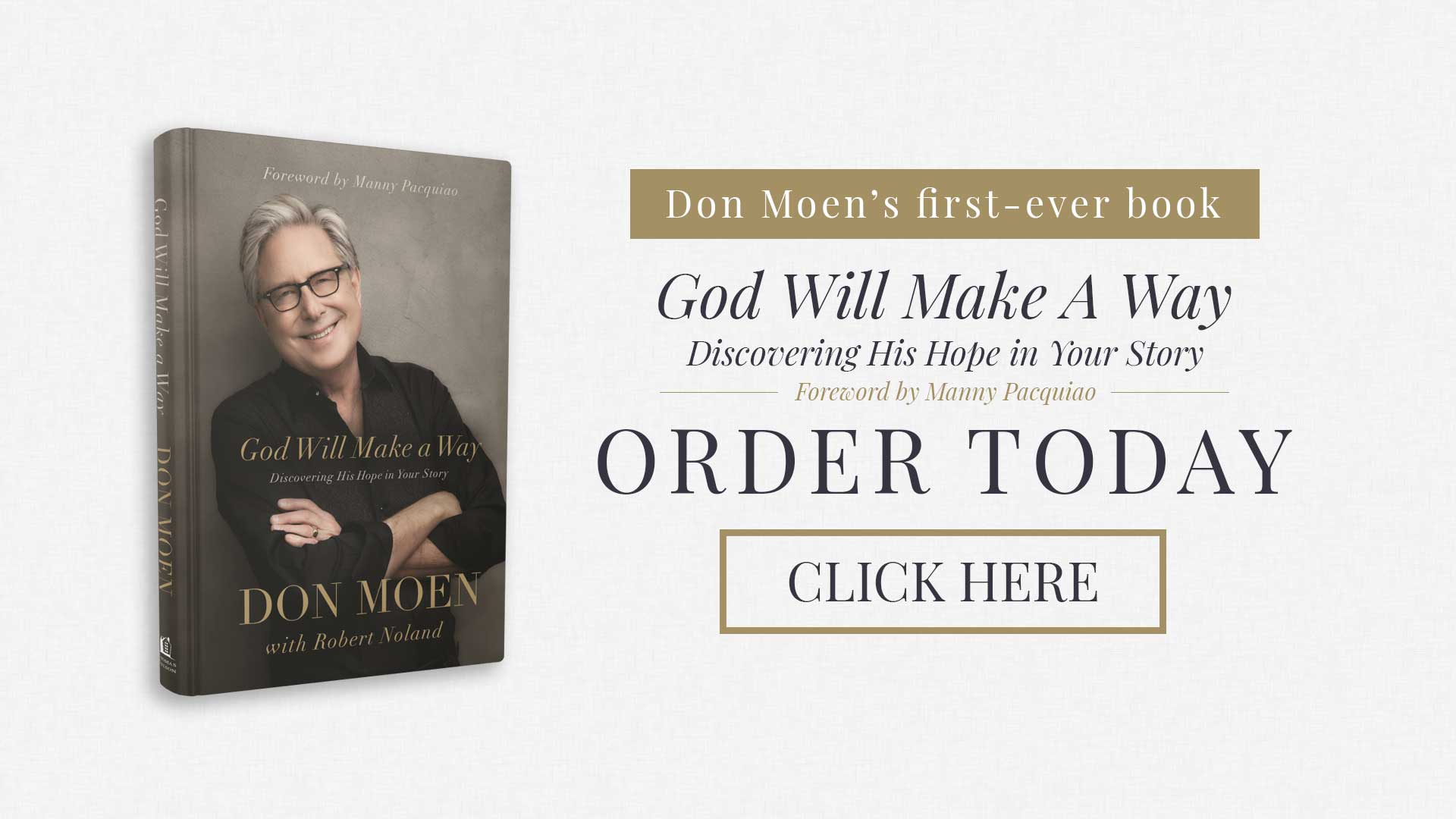 "Order Don's book, ""God Will Make A Way"", today!"